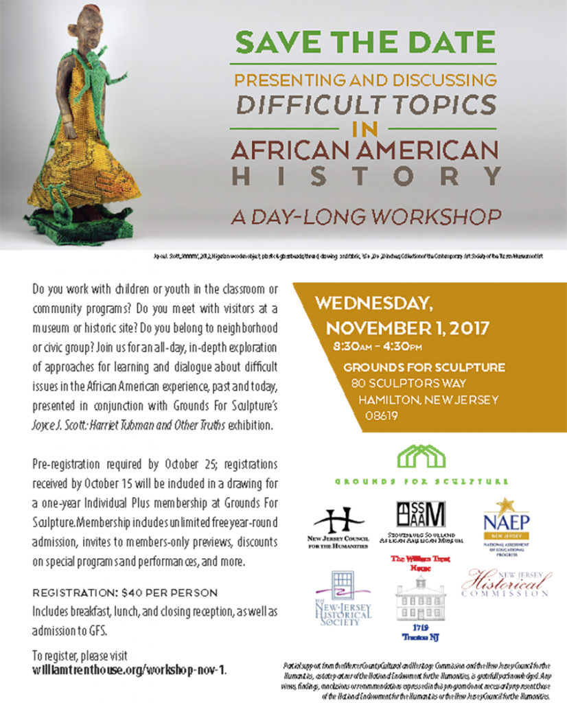 Difficult Topics in African-American History on Nov. 1, 2017 flyer